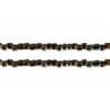 3 Cut Beads 10/0 Strung Brown Iris